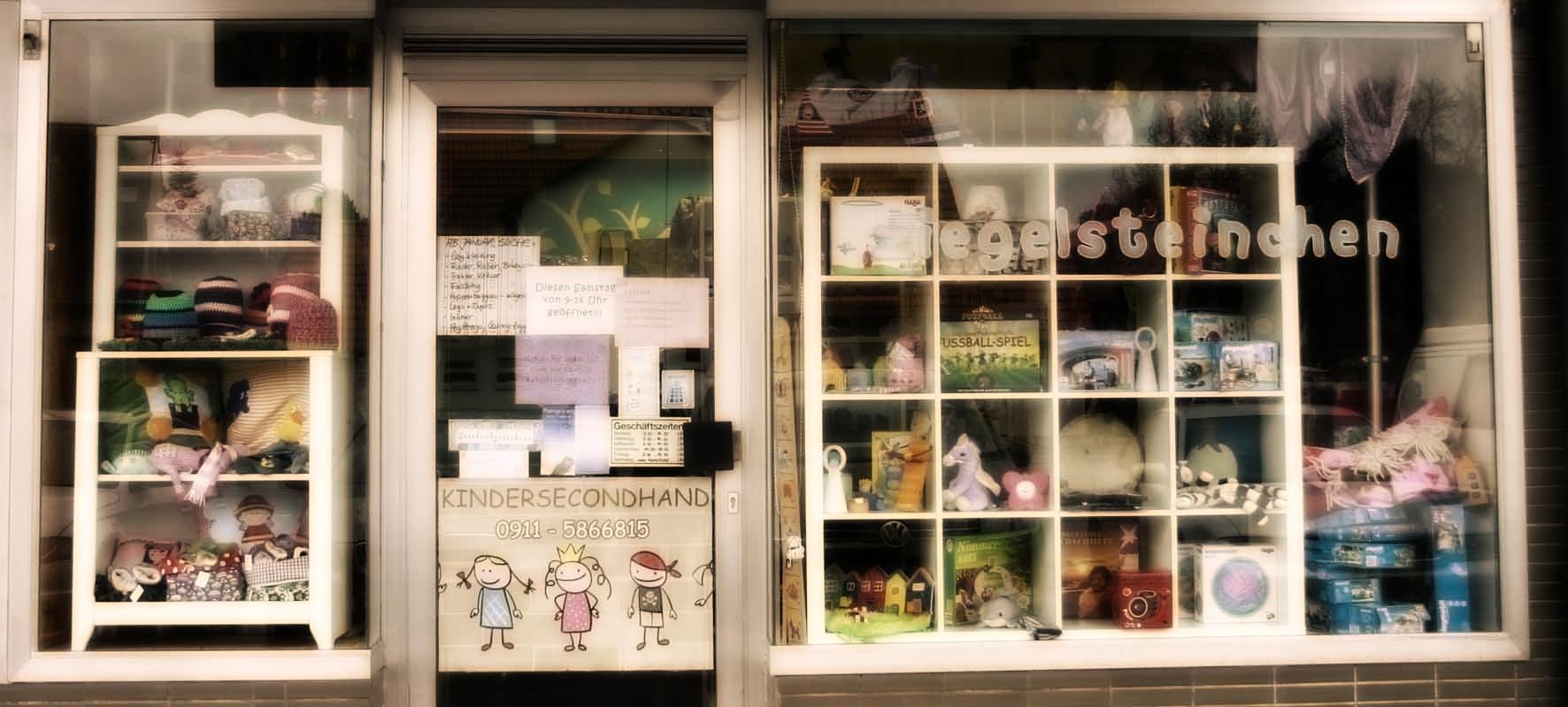Kinder secondhand for Laden schaufenster